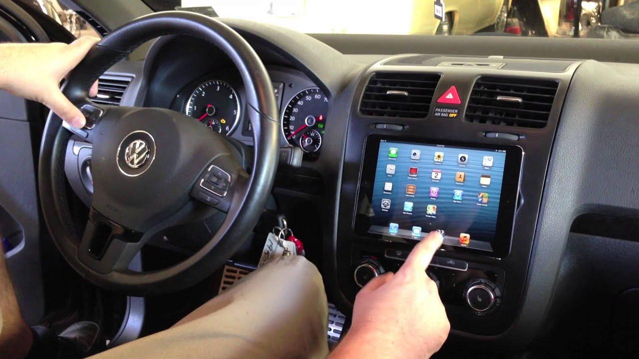 Soundwaves Of Tampa Installs Ipad Mini Into 2010 Vw Jetta