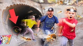 Exploring Secret Abandoned Underground Tunnel TRAPPED WITH BEES! 🐝 (HIVE FOUND)