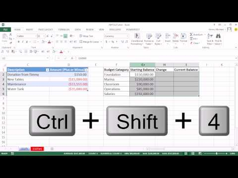 Excel Magic Trick 1127: Automatically Track Budget Start, Change & Ending Balances In Excel