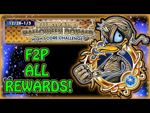 KH Union χ[Cross] F2P Illus. Halloween Donald HSC ~ All Rewards