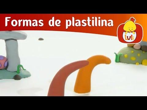 Formas de plastilina - El girasol y el camión, para niños