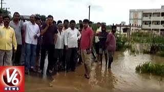 Heavy Inflow Keeps Water Level High In Khammam Canals And Ponds