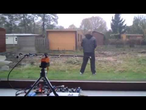 SK450 Quadcopter and DexterTracker v2 testing DIY antenna tracker