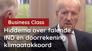 Hiddema over de falende IND en doorrekening klimaatakkoord bij Business Class