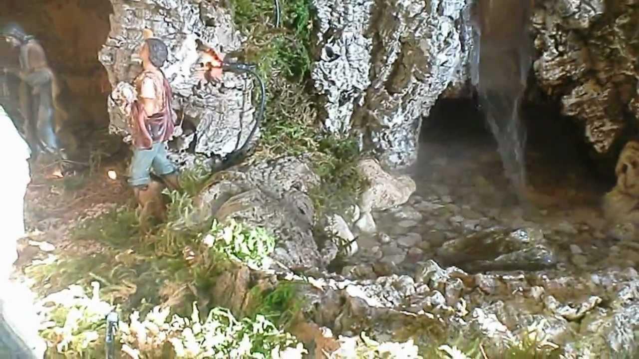 Presepe con cascata e fiume 1 youtube for Fontana giardino fai da te