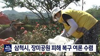 삼척시, 태풍 피해 장미공원 복구 여론 수렴