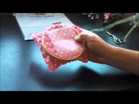 How to Use Water Soluble Canvas