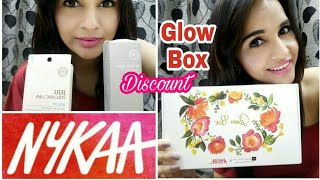 *GIVEAWAY OPEN | Unboxing of Nykaa Glow Box | First on YouTube | Nykaa Mini Haul | Discount & Offer