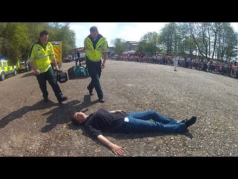 2013 Brooklands Mayday Emergency Vehicles Day Part 5 - Pedestrian Accident