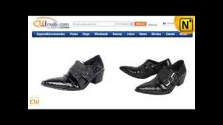 Black Italian Leather Dress Shoes for Men CW760109  www.cwmalls.com