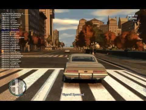 GTA 4 - SHADOW MoD (поменяные транспортные средсва) часть 1.avi