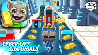TALKING TOM GOLD RUN - NEW Cyber City World Gameplay (iOS Android)