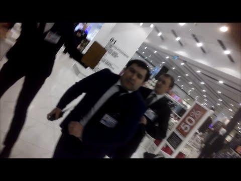 нападение (отморозков) охранников в ТЦ Авиапарк (магазин Debenhams)