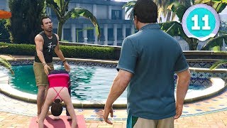 YOGA GOES TERRIBLY WRONG 😂  - Grand Theft Auto 5 - Part 11