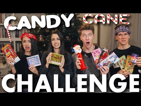 CANDY CANE CHALLENGE + BEAN BOOZLED CHALLENGE! Merrell Twins vs. Key Bros | Collins Key