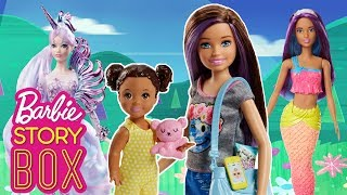 Barbie Unicorn Goddess saves Skipper and Baby from a Tiger! | Barbie