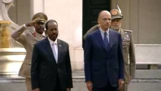 Roma - Letta incontra Hassan Sheikh Mohamud - Cerimonia d