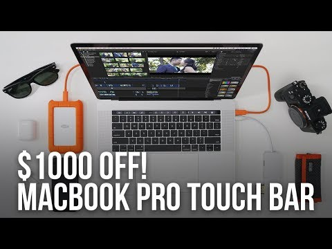 $1000 OFF MACBOOK PRO W/ TOUCHBAR + Up to 50% Savings in Video Softwares  - Black Friday 2017