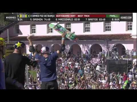 Sandro Dias wins silver in Skate Vert