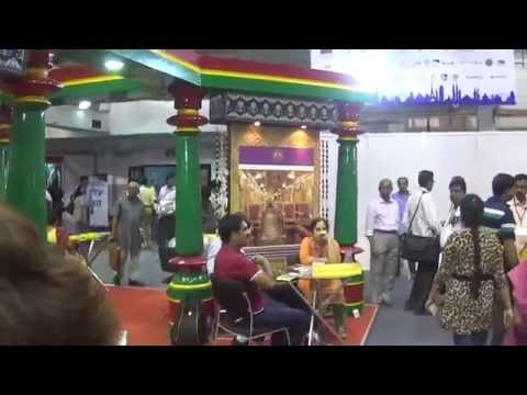 Beautiful Karnataka Tourism Stall At TTF 2014 At Kolkata (Calcutta), India HD Video