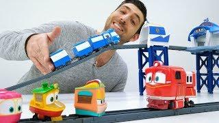 Vidéo pour enfants du Jardin d'enfants № 16. Les robots - trains