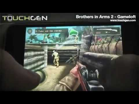 Brothers In Arms 2:Global Front On iPhone Gameplay