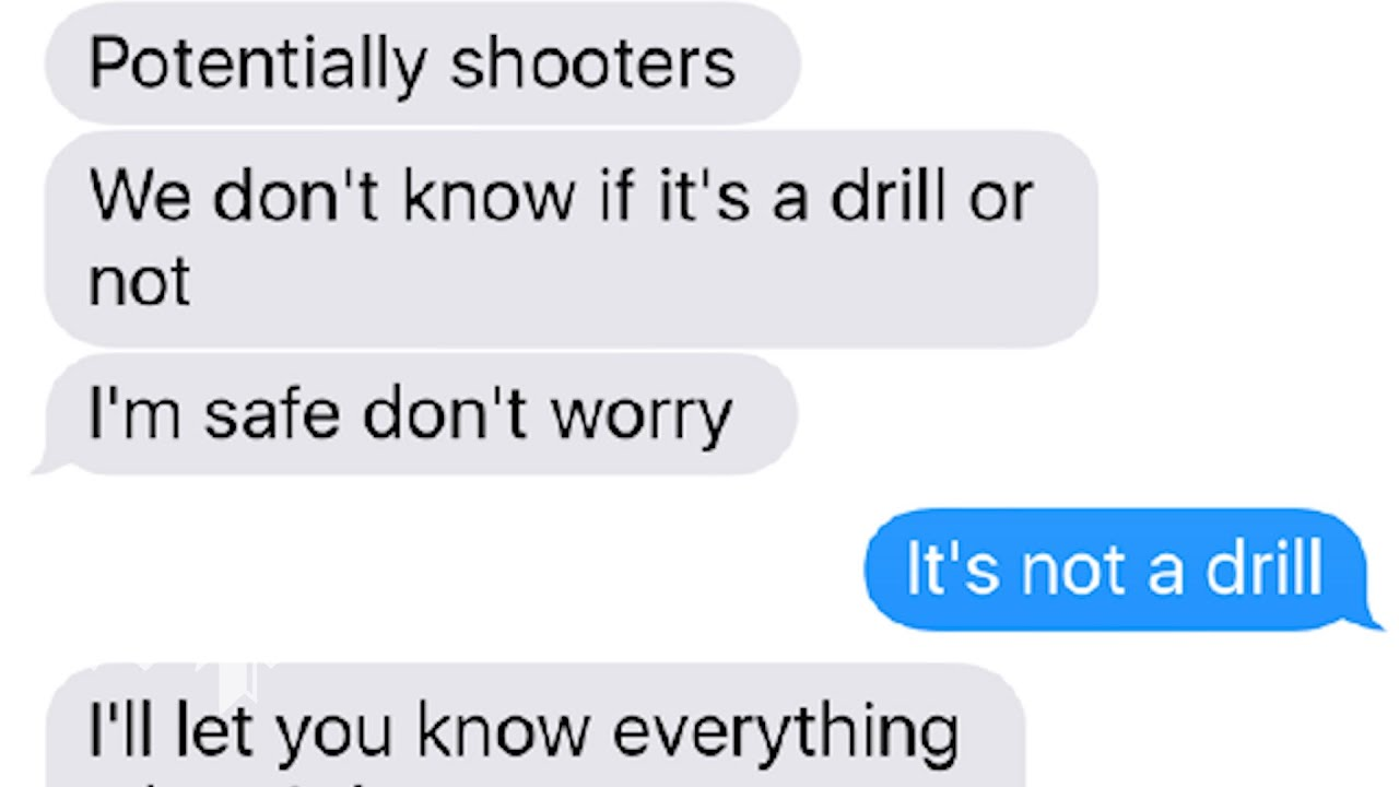 As the Parkland students hid from the shooter these are the text messages they sent