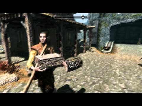 Skyrim funny glitch sigurd the retarded