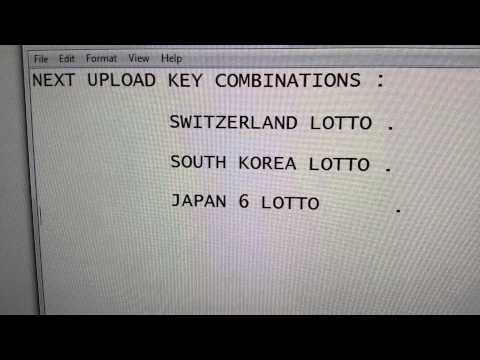 Next Upload Switzerland,South Korea,Japan 6 Lotto