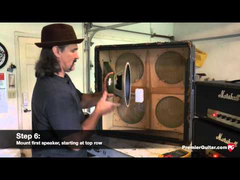 DIY: How to Install Speakers in a 4x12 Cab. Part 1