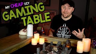 👍👎MY CHEAP DIY GAMING TABLE - Review & How I Made It