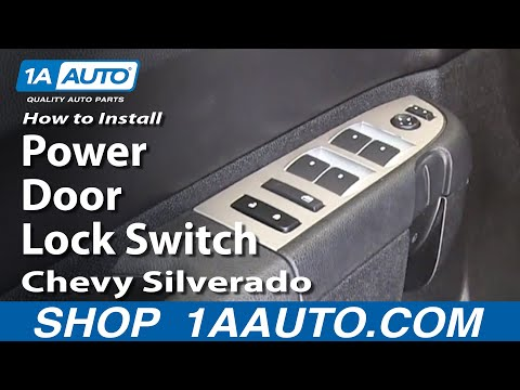 How To Install Replace Power Door Lock Switch 2007-11 Chevy Silverado GMC Sierra