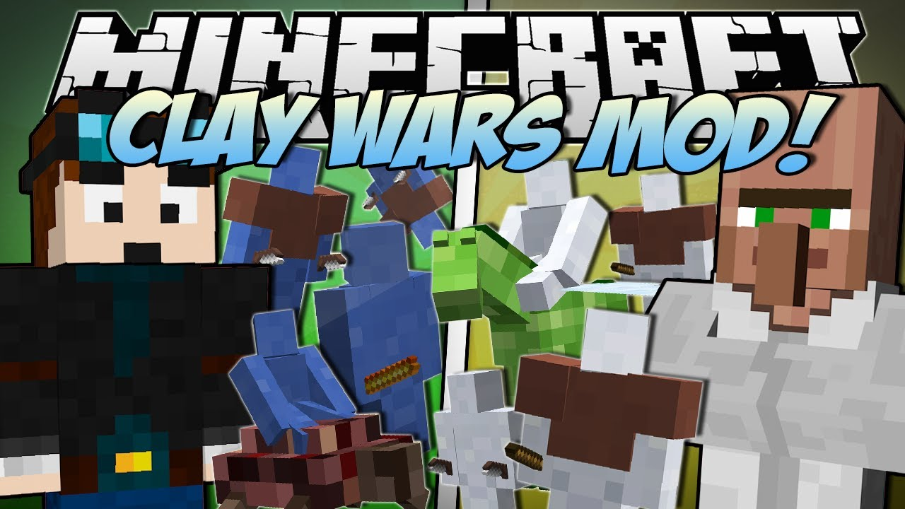 Minecraft CLAY WARS MOD Trayaurus Vs TDM Mod
