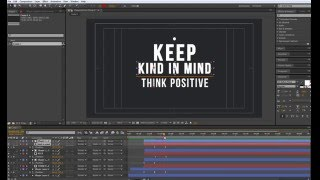Keep kind in mind. After Effects animation. Motion design. Lessons After Effects