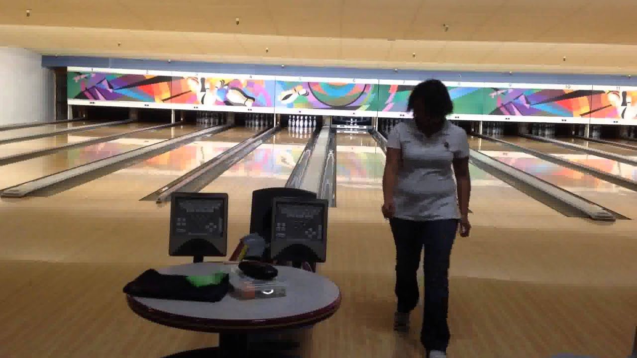 Showing off amateur bowler tour night