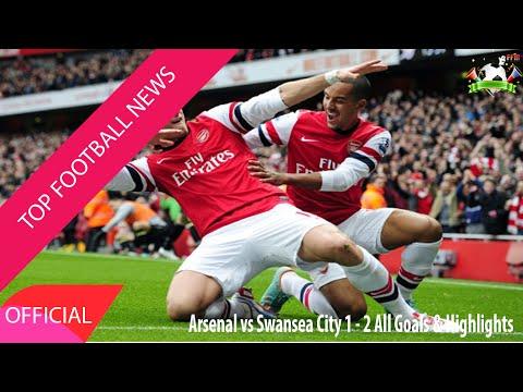 Top Football Highlights - Arsenal vs Swansea City 1-2 All Goals & Highlights