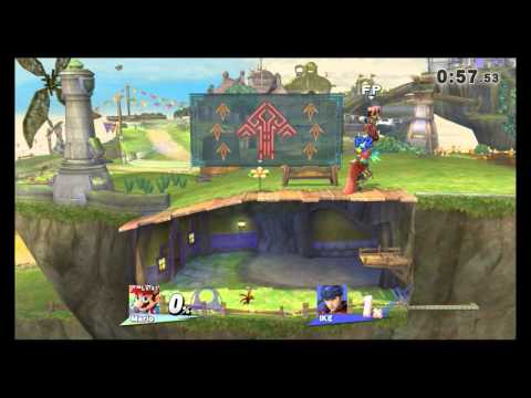 Super Smash Bros. Wii U - Skyloft - The Great Sea / Menu Select (Direct Feed)