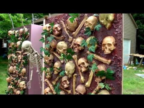 skull wall outside setup