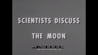 1960s NASA ROUNDTABLE: SCIENTISTS DISCUSS THE MOON  HAROLD C. UREY & THOMAS GOLD  17524