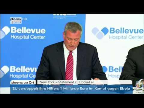 Ebola-Fall in New York: Bill de Blasio zur aktuellen Situation am 24.10.2014
