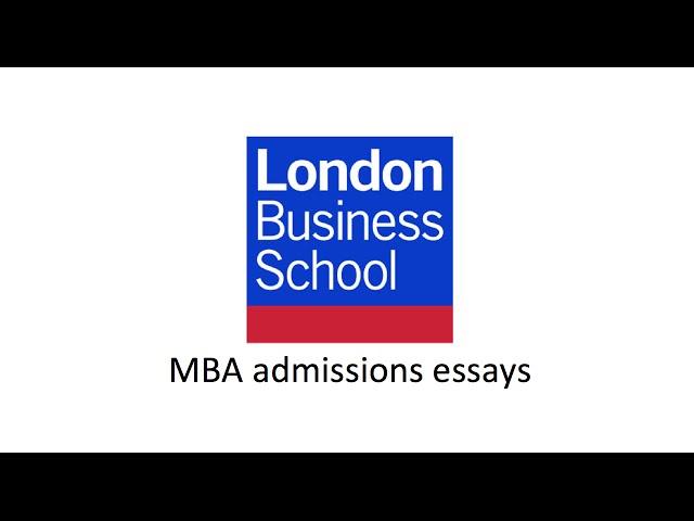 Mba application essays samples
