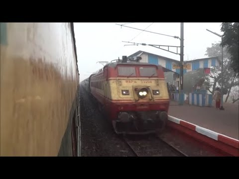 Rare Shot: Eastern Railway Diverted Azad Hind Icf Raj Bhusawal Wap 4 video