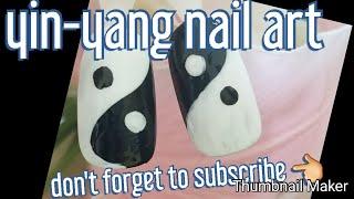 Yin-yang nail art  #2