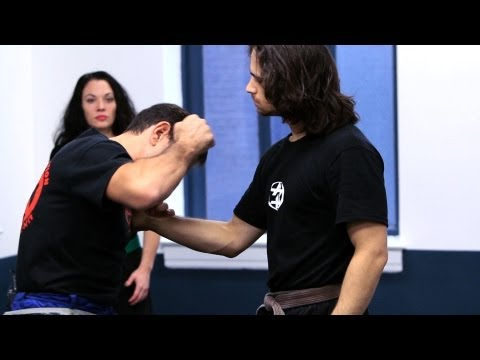 Krav Maga Defense against Shirt Grab from the Front | Krav Maga Techniques Image 1