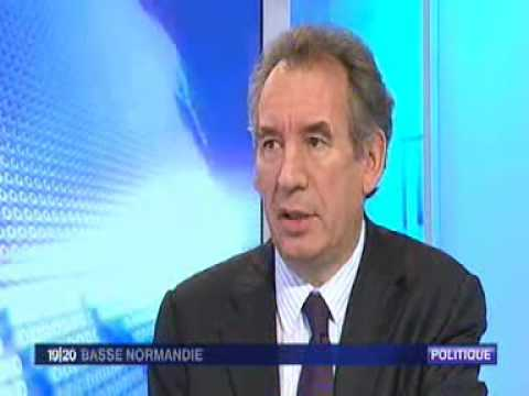 Interview François Bayrou Journal France 3 Basse-Normandie (13 nov 2009)