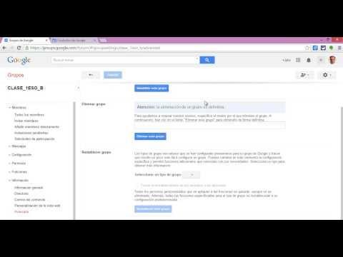Tutorial de Google Groups para Educación