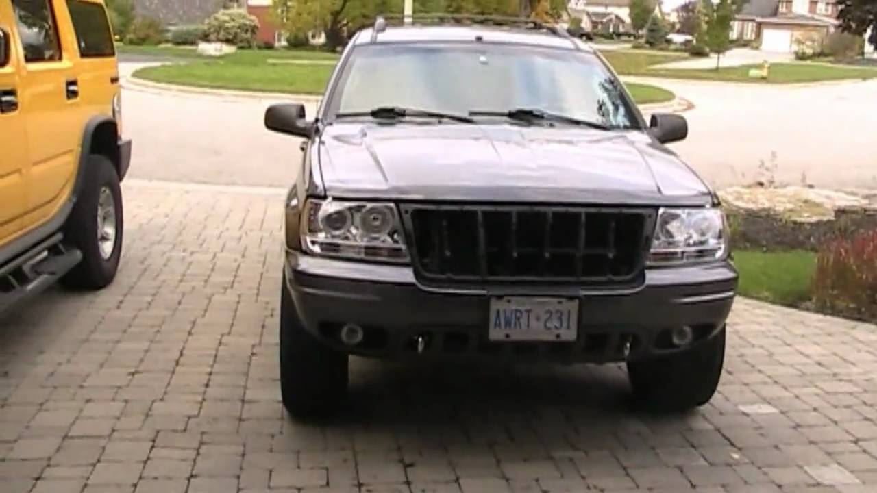Jeep WJ project update removal of grill and final plans ...