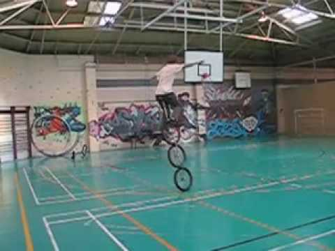 Josh Grimaldi on a Three wheeled unicycle / tricycle