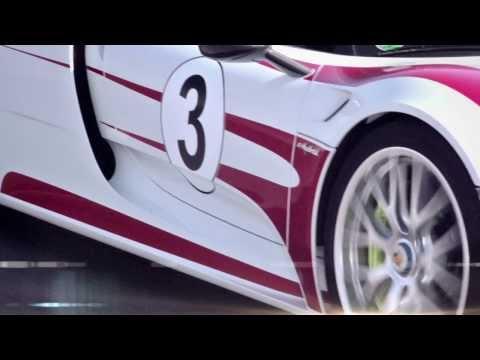 Тизер первого теста Porsche 918 Spyder
