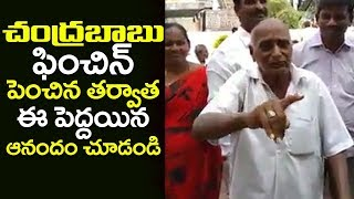 Old age man about CM Chandrababu Naidu After hikes welfare pension amount | Telugu Trending
